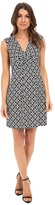 Laundry by Shelli Segal Short Sleeve Empire Waist Dress with Front Twist