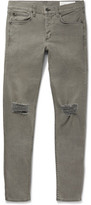 Rag & Bone One Skinny-fit Distressed Stretch-denim Jeans - Gray