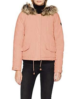 Only Women's Onlnew Skylar Fur Parka Cc OTW Jacket, Pink Misty Rose, 10 (Size: )