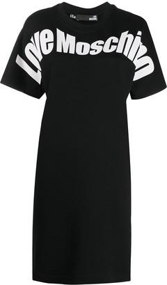 Love Moschino logo print crew neck T-shirt dress