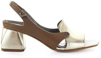 Ixos Gold Dove-grey Heeled Sandal