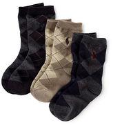 Ralph Lauren 2-7 Argyle Sock 3-Pack