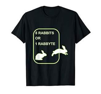 8 Rabbits 1 Rabbyte Bits and Bytes Developer T-Shirt T-Shirt