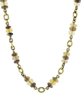 Sylva & Cie Honey Opal Rondelle Bead Necklace
