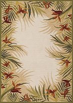 Couristan 2129/1021 Covington Tropic Garden/Sand Multi 2-Feet by 4-Feet Rug