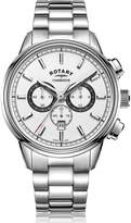 Rotary Watches Rotary Mens Silver Cambridge Watch With White Dial