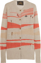 Vivienne Westwood Johnny distressed intarsia-knit cardigan
