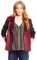 Jessica Simpson Women's Elora Bonded Suede Moto Jacket