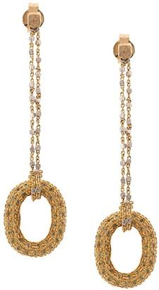 Carolina Bucci 18kt yellow gold Sapphire Link Chain earrings