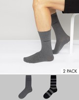 BOSS Black By Hugo 2 Pack Striped Socks