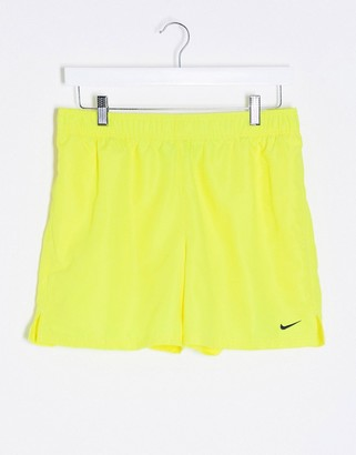 Nike Swimming 5inch Volley shorts in yellow