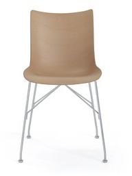Kartell Side Chair Color: Light wood