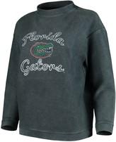 Unbranded Women's Concepts Sport Charcoal Florida Gators Jetway Mineral Wash Corduroy Crew Neck Sweatshirt