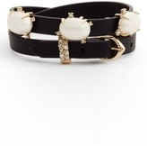Alexis Bittar Women's Stone Leather Wrap Bracelet & Choker