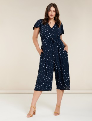 Forever New Riley Curve Cap Sleeve Jumpsuit - DITSY SPOT - 16