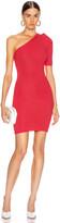 Cushnie One Shoulder Knit Mini Dress in Cerise   FWRD