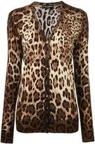 Dolce & Gabbana leopard print cardigan - women - Silk/Cashmere - 38