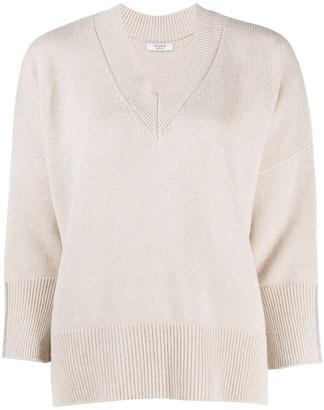 Peserico split hem V-neck sweater