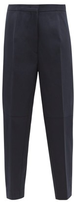 Jil Sander Tapered Cotton-twill Trousers - Womens - Dark Navy