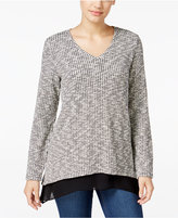 Style&Co. Style & Co. Jacquard Chiffon-Hem Top, Only at Macy's