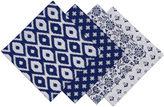DESIGN IMPORTS Design Imports Set of 4 Indigo Prints Napkins