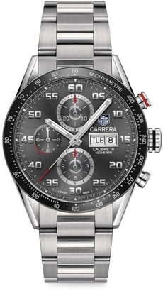 Tag Heuer Carrera 43MM Stainless Steel & Ceramic Automatic Tachymeter Chronograph Bracelet Watch