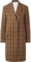Calvin Klein Oversized Checked Twill Coat - Brown