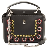 Fendi Dotcom Click Floral Small Leather Satchel