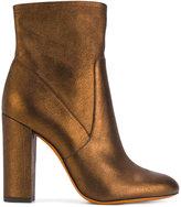 Santoni metallic heeled boots - women - Leather/rubber - 36