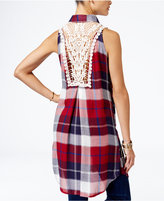 American Rag High-Low Plaid Shirt, Only at Macy's