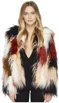 Romeo & Juliet Couture Colorful Faux Fur Jacket