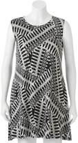 Iz Byer Juniors' Plus Size Print Shift Dress