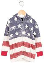Ralph Lauren Girls' American Flag Hooded Sweatshirt