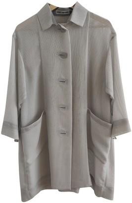 Issey Miyake Grey Coat for Women