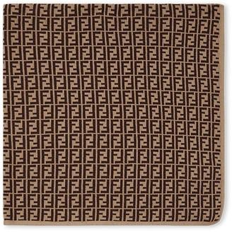 Fendi FF logo motif blanket