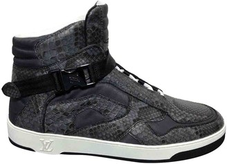 Louis Vuitton Anthracite Python Trainers