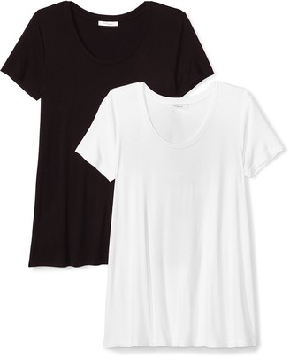 Daily Ritual Women's Jersey Relaxed-Fit Short-Sleeve Scoop Neck Swing T-Shirt