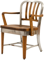 Rejuvenation Fully Restored Shaw Walker Maple and Aluminum Model 8320-WS Office Chair c1940