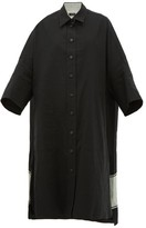 Joseph Baker Oversized Cotton-blend Shirtdress - Womens - Black Multi