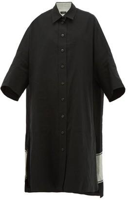 Joseph Baker Oversized Cotton-blend Shirtdress - Womens - Black Multi