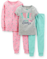 Carter's 4-pc. Smile Pajama Set - Girls 6m-24m