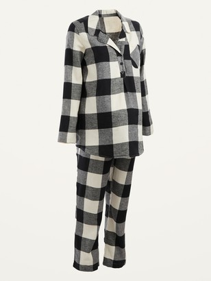 Old Navy Maternity Plaid Flannel Pajama Set