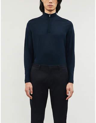 Sunspel High-neck wool jumper