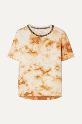 3.1 Phillip Lim Wool-trimmed Tie-dye Cotton-jersey T-shirt - Beige
