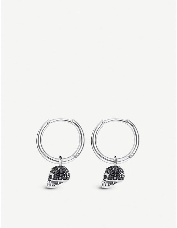 cc82f042d Silver Skull Earrings - ShopStyle UK