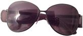Balenciaga Grey Metal Sunglasses