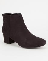 Soda Sunglasses Faux Suede Womens Mod Boots
