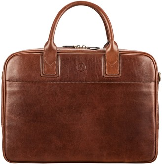 Maxwell Scott Bags Men S Tan Italian Leather Business Bag For Laptop