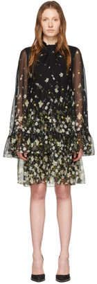 Erdem Black Silk Concetta Dress