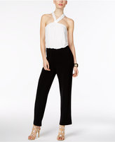 Thalia Sodi Colorblocked Halter Jumpsuit, Only at Macy's